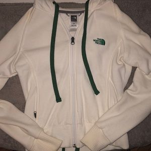 North Face white hoodie, size XS